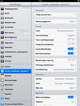 Apple iPad mini - E-mail - handmatig instellen - Stap 4