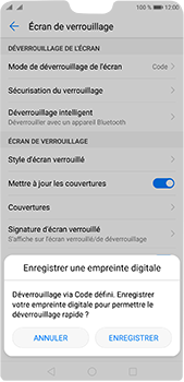 Huawei P20 pro - Sécuriser votre mobile - Activer le code de verrouillage - Étape 11