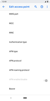 Google Pixel 3 - Internet - Manual configuration - Step 13