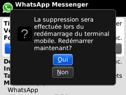 BlackBerry curve 3G - Applications - Supprimer une application - Étape 8