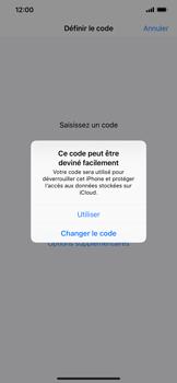 Apple iPhone XS Max - Sécuriser votre mobile - Activer le code de verrouillage - Étape 6