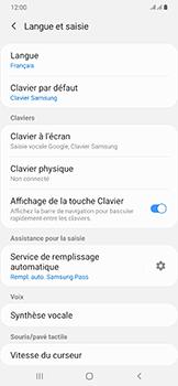 Samsung Galaxy A50 - Prise en main - Comment ajouter une langue de clavier - Étape 6