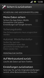 Sony Xperia U - Gerät - Zurücksetzen auf die Werkseinstellungen - Schritt 5