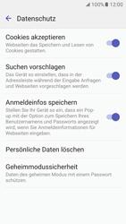 Samsung Galaxy S7 - Datenschutz und Sicherheit - Datenschutzeinstellungen des Browsers ändern - 9 / 18