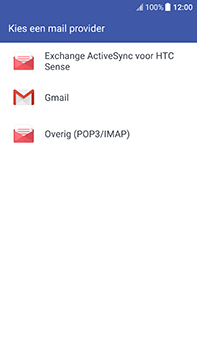 HTC U11 - E-mail - Account instellen (POP3 met SMTP-verificatie) - Stap 5