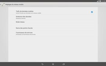 Sony Xperia Tablet Z2 LTE - Internet et roaming de données - Désactivation du roaming de données - Étape 6