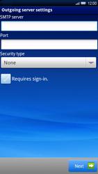 Sony Xperia X10 - E-mail - Manual configuration - Step 9