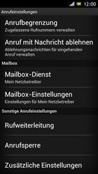 Sony Xperia J - Anrufe - Rufumleitungen setzen und löschen - 1 / 1