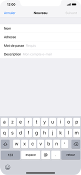 Apple iPhone XS Max - E-mail - Configuration manuelle - Étape 9