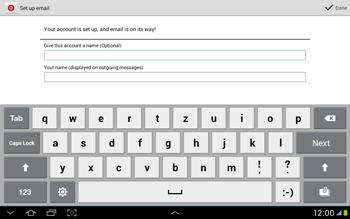 Samsung Galaxy Tab 2 10.1 - E-mail - Manual configuration - Step 14