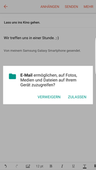 Samsung Galaxy S6 edge+ - E-Mail - E-Mail versenden - 1 / 1