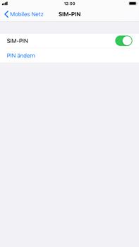 Apple iPhone 7 Plus - iOS 14 - Startanleitung - So aktivieren Sie eine SIM-PIN - Schritt 8