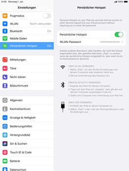 Apple iPad mini (2019) - iPadOS 13 - WiFi - So aktivieren Sie einen WLAN-Hotspot - Schritt 8
