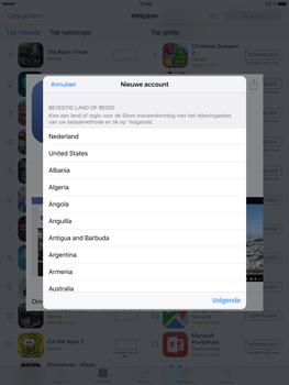 Apple iPad Mini 4 - Applicaties - Account aanmaken - Stap 8