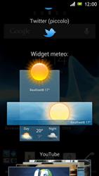 Sony Xperia J - Operazioni iniziali - Installazione di widget e applicazioni nella schermata iniziale - Fase 4