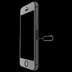 Apple iPhone 5S mit iOS 8 - SIM-Karte - Einlegen - Schritt 2