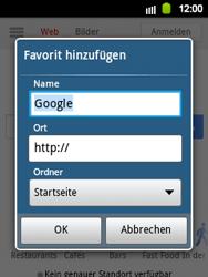 Samsung Galaxy Y - Internet und Datenroaming - Verwenden des Internets - Schritt 6
