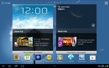 Samsung N8000 Galaxy Note 10-1 - E-mail - e-mail instellen: POP3 - Stap 1