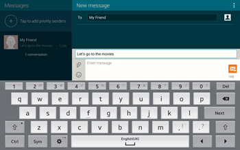 Samsung T805 Galaxy Tab S - MMS - Sending pictures - Step 11