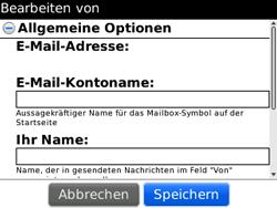 BlackBerry 8520 Curve - E-Mail - Konto einrichten - Schritt 16