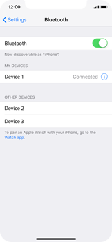 Apple iPhone X - iOS 12 - Bluetooth - Connecting devices - Step 8