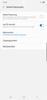 Samsung Galaxy Note 10 Plus 5G - Netzwerk - So aktivieren Sie eine 4G-Verbindung - Schritt 8