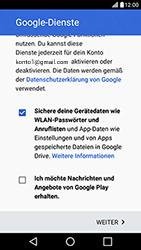 LG X Power - Apps - Konto anlegen und einrichten - Schritt 16