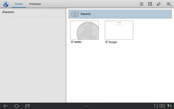 Samsung P7500 Galaxy Tab 10-1 - Internet - navigation sur Internet - Étape 12