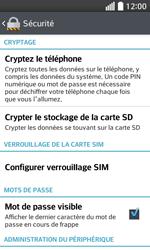 LG F70 - Sécuriser votre mobile - Personnaliser le code PIN de votre carte SIM - Étape 6