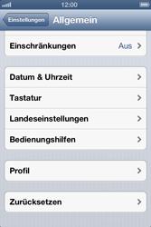 Apple iPhone 4 S - Fehlerbehebung - Handy zurücksetzen - 6 / 10