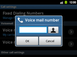 Samsung B5510 Galaxy TXT - Voicemail - Manual configuration - Step 7