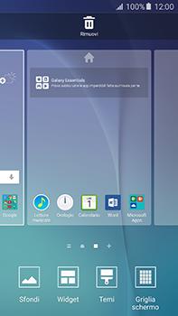 Samsung Galaxy A8 - Operazioni iniziali - Installazione di widget e applicazioni nella schermata iniziale - Fase 4