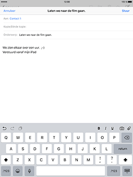 Apple iPad Pro 9.7 - iOS 10 - E-mail - e-mail versturen - Stap 7