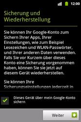 Samsung S5690 Galaxy Xcover - Apps - Konto anlegen und einrichten - Schritt 11