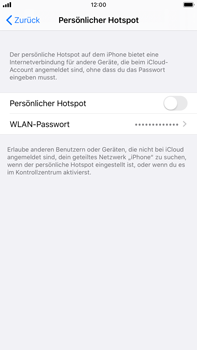 Apple iPhone 6s Plus - iOS 13 - WiFi - So aktivieren Sie einen WLAN-Hotspot - Schritt 7