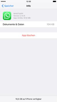 Apple iPhone 6s Plus - Apps - Eine App deinstallieren - Schritt 7