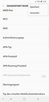 Samsung Galaxy S8 Plus - Android Oreo - MMS - Manuelle Konfiguration - Schritt 14