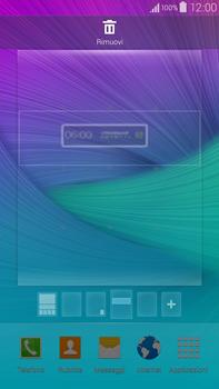 Samsung Galaxy Note 4 - Operazioni iniziali - Installazione di widget e applicazioni nella schermata iniziale - Fase 6