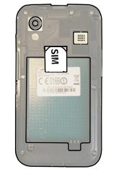 Samsung S5830 Galaxy Ace - SIM-Karte - Einlegen - Schritt 3