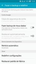 Samsung Galaxy J3 Duos - Funções básicas - Como restaurar as configurações originais do seu aparelho - Etapa 5