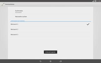 Sony Xperia Tablet Z2 LTE - Netzwerk - Manuelle Netzwerkwahl - Schritt 10