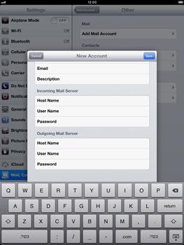 Apple iPad Retina - E-mail - Manual configuration - Step 13
