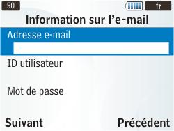Samsung S3350 Chat 335 - E-mail - Configuration manuelle - Étape 12