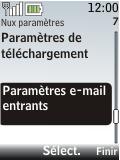 Nokia 2720 fold - E-mail - Configuration manuelle - Étape 18