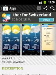 Samsung Galaxy Y - Applications - Installing applications - Step 13