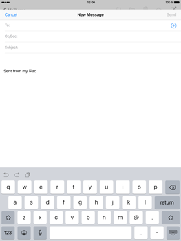 Apple iPad mini 4 - Email - Sending an email message - Step 4