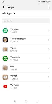 Huawei Mate 10 Pro - Android Pie - Apps - Eine App deinstallieren - Schritt 8