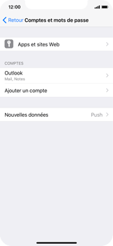 Apple iPhone X - E-mail - 032c. Email wizard - Outlook - Étape 10