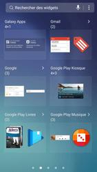 Samsung Galaxy S6 - Android Nougat - Prise en main - Installation de widgets et d