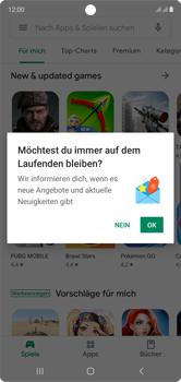 Samsung Galaxy Note 10 - Apps - Einrichten des App Stores - Schritt 21